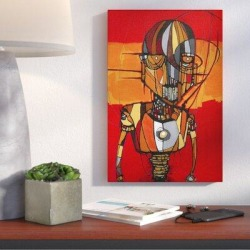 Wrought Studio™ 'Segmented Man Orange' Giclee Acrylic Painting Print on CanvasCanvas & Fabric in Brown/Orange/Red, Size 18.0 H x 12.0 W x 0.75 D in found on Bargain Bro Philippines from Wayfair for $54.99