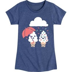 Instant Message Girls' Tee Shirts HEATHER - Heather Navy Cloud Raining Sprinkles Tee - Toddler & Girls found on Bargain Bro from zulily.com for USD $9.11