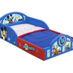 Disney Other   Disney Plastic Sleep And Play Toddler Bed   Color: Blue/Red   Size: Osbb