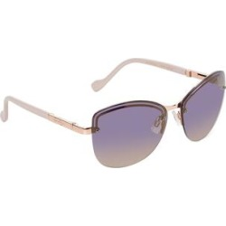 Jessica Simpson Collection Women's Sunglasses ROSE - Rose Gold & Cream Outline Half-Rim Sunglasses found on Bargain Bro from zulily.com for USD $11.39