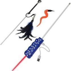Pet Fit For Life Wand & LED Laser Combo Cat Toy found on Bargain Bro from Chewy.com for USD $11.36