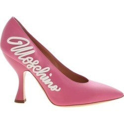 3d Effect Logo Pointed Pumps - Pink - Moschino Heels found on Bargain Bro Philippines from lyst.com for $463.00