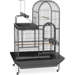 Prevue Pet Products Signature Series Deluxe Parrot Cage with Playtop Area Wrought Iron Bird Cage in Black found on Bargain Bro from petco.com for USD $539.59
