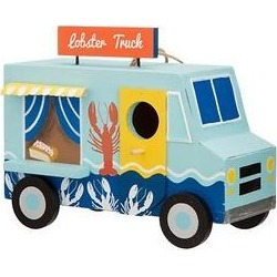 Glitzhome Wooden Lobster Truck Bird House, 9.45-in found on Bargain Bro from Chewy.com for USD $22.79