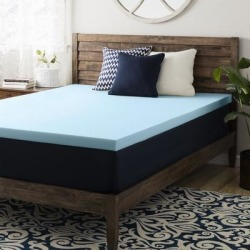 4 Inch Gel Memory Foam Mattress Topper - Crown Comfort (California King), Black found on Bargain Bro from Overstock for USD $122.73
