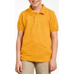 Dickies Kids' Short Sleeve Pique Polo Shirt, 4-20 - Yellow Size M (KS4552) found on Bargain Bro from Dickies.com for USD $7.59