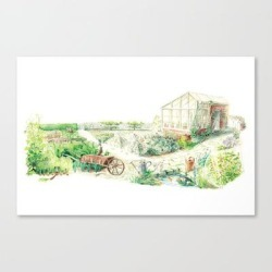 Canvas Print | Literary Garden For Rabbits by Web & Moss Studio - LARGE - Society6 found on Bargain Bro Philippines from Society6 for $123.89