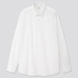 UNIQLO Men's Extra Fine Cotton Broadcloth Long-Sleeve Shirt, Off White, S found on Bargain Bro India from Uniqlo for $29.90