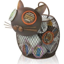 YIP K-Cup Countertop Sculpture Holder For Keurig K-Cup Coffee Pods, Tea Bags, Creamers (Cat (25 K-Cups), Size 9.5 H x 9.5 W x 8.0 D in | Wayfair found on Bargain Bro Philippines from Wayfair for $77.99