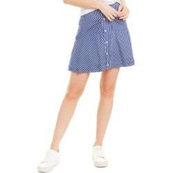 Derek Lam 10 Crosby Asymmetrical Striped Mini Skirt (0), Women's, Blue(cotton) found on MODAPINS from Overstock for USD $41.79