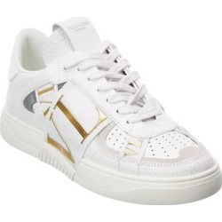 Valentino Vltn Leather Sneaker (36), Women's, White found on Bargain Bro Philippines from Overstock for $714.99