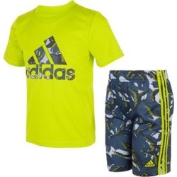 adidas Boys' Active Shorts ACID - Acid Yellow Logo Tee & Green Camo Athletic Shorts - Toddler found on Bargain Bro Philippines from zulily.com for $24.99