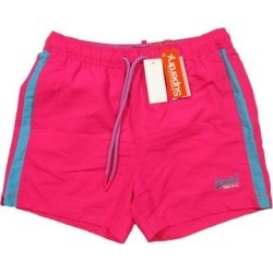 Superdry Mens Swimwear Fuschia Pink Blue Size 2XL Beach Volly Swim Trunk (2XL), Men's(polyester) found on Bargain Bro from Overstock for USD $12.90