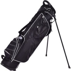 Costway Golf Stand Cart Bag w/ 4 Way Divider Carry Organizer Pockets-Black found on Bargain Bro India from Costway for $95.95