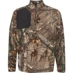 DRI DUCK Interval DDX Quarter-Zip Nano-Fleece Nylon Pullover - Realtree AP Xtra/ Charcoal - M, Men's, Grey found on Bargain Bro Philippines from Overstock for $70.05