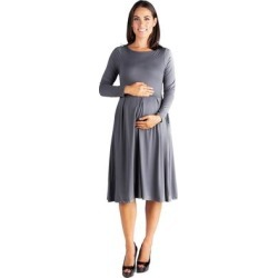 24/7 Comfort Apparel Long Sleeve Maternity Midi Dress found on Bargain Bro Philippines from Overstock for $35.99