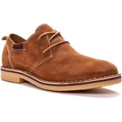 Men's Men's Finn Oxford, Plain Toe - Suede Shoes by Propet in Tan (Size 9 1/2 M) found on Bargain Bro Philippines from fullbeauty for $89.99