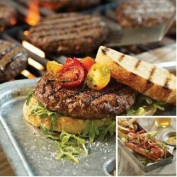 Omaha Steaks - 32 Omaha Steaks Burgers & 32 Gourmet Jumbo Franks found on Bargain Bro from Omaha Steaks for USD $121.59