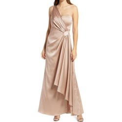 Draped One-shoulder Bridesmaid Dress - Pink - Chi Chi London Dresses found on MODAPINS from lyst.com for USD $140.00
