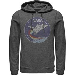 Fifth Sun Men's Sweatshirts and Hoodies CHAR - NASA Charcoal Heather Patch Hoodie - Men found on Bargain Bro from zulily.com for USD $25.07
