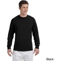 Champion Men's Long-sleeve Tagless T-shirt (2XL,NAVY), Blue(cotton, solid) found on Bargain Bro Philippines from Overstock for $14.21