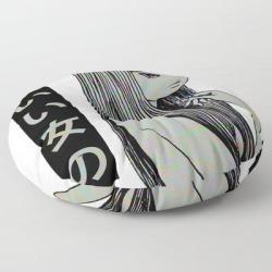"Pretty Girl - Sad Japanese Anime Aesthetic Floor Pillow by Poser_boy - ROUND - 30"" x 30"""