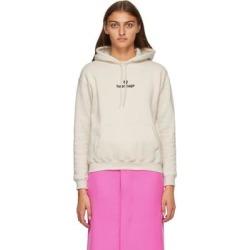 Beige Sponsor Logo Hoodie - Natural - Balenciaga Sweats