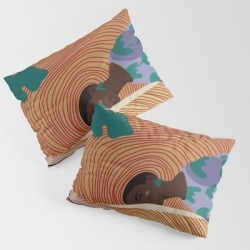 King Size Pillow Sham | Woman In Hat - Summer Hide by Anyeva - STANDARD SET OF 2 - Cotton - Society6 found on Bargain Bro from Society6 for USD $30.39