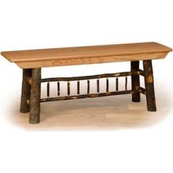 Hickory Log Farm Bench