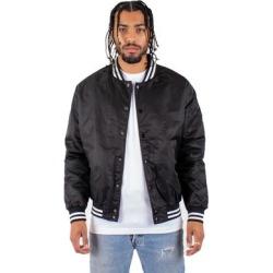 Shaka Wear SHVBJ Men's Varsity Bomber Jacket in Black size Large | Nylon found on Bargain Bro Philippines from ShirtSpace for $32.76