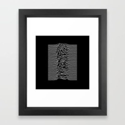 Framed Art Print   Joy Division - Unknown Pleasures by Hein - Vector Black - X-Small-10x12 - Society6