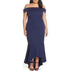 Off The Shoulder Dress - Blue - Chi Chi London Dresses found on MODAPINS from lyst.com for USD $105.00
