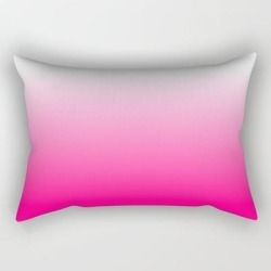 "Hot Pink Ombre Rectangular Pillow by Designs By Sabina - Small (17"" x 12"")"