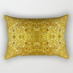Rectangular Pillow | Deep Gold Glass Mosaic by Dana Du Design - Small (17