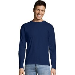 Hanes TAGLESS Long-Sleeve T-Shirt (Light Blue - S), Men's found on Bargain Bro Philippines from Overstock for $17.55