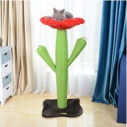 Catry 44.3-in Sisal Cat Scratch Post, Green & Red found on Bargain Bro from Chewy.com for USD $235.59