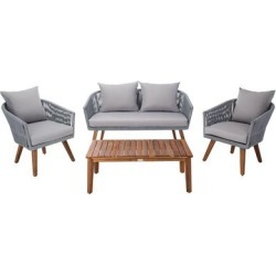 Safavieh Velso 4 Piece Outdoor Dining Set, Grey found on Bargain Bro from samsclub.com for USD $683.24
