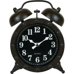 Williston Forge Metal Twin Bell Alarm Tabletop ClockMetal in Black, Size 9.0 H x 6.75 W x 3.0 D in   Wayfair DF54F5BF79BE48539A5B1944D1F04911 found on Bargain Bro Philippines from Wayfair for $68.99
