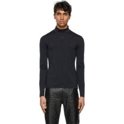 Black Seasonal Second Skin Moon Turtleneck - Black - MARINE SERRE Knitwear