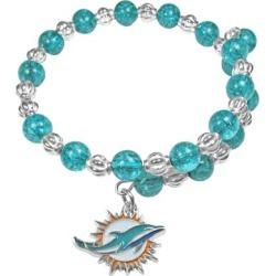Women's Miami Dolphins 400 Degrees Beaded Bracelet found on Bargain Bro from nflshop.com for USD $22.79