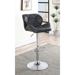 Grace Chrome Hydraulic Adjustable Bar Stools (Set of 2) (Black) found on Bargain Bro Philippines from Overstock for $322.99