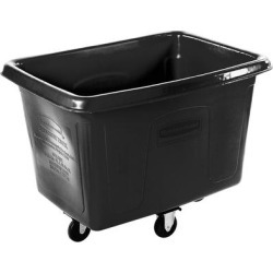 Rubbermaid FG461400BLA Black 14 Cu. Ft. Bulk Cube Truck (500 lb.) found on Bargain Bro India from webstaurantstore.com for $475.00