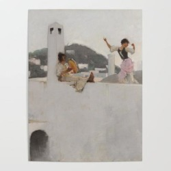 Art Poster | Classical Masterpiece Capri Girl On A Rooftop By John Singer Sargent by Jeanpaul Ferro - 18