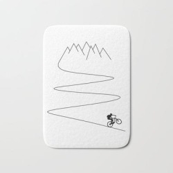 Bath Mat | Mountain Bike Cycling Downhill Cyclist Bicycle by Theoutdoorpeople - 17
