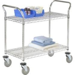 Nexel 2 Shelf Utility Cart w/ Polyurethane CastersMetal in Gray, Size 39.0 H x 30.0 W x 18.0 D in   Wayfair 1830P2CB found on Bargain Bro Philippines from Wayfair for $169.99