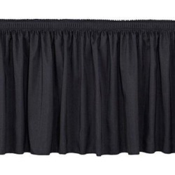 National Public Seating Shirred Pleat Stage SkirtingMetal in Black, Size 32.0 H x 96.0 W x 1.0 D in   Wayfair SS32-96-10 found on Bargain Bro Philippines from Wayfair for $169.18