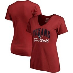 Houston Texans NFL Pro Line by Fanatics Branded Women's Victory Script V-Neck T-Shirt -Red found on Bargain Bro from Fanatics for USD $18.99