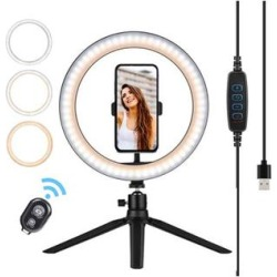eDooFun Camera Mounts Black - 8'' Selfie Ring Light Stand found on Bargain Bro Philippines from zulily.com for $19.99