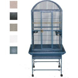 A&E Cage Company Black Classico Dometop Medium Bird Cage, 24