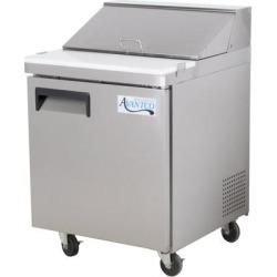 "Avantco APT-27-HC 27"" 1 Door Refrigerated Sandwich Prep Table"